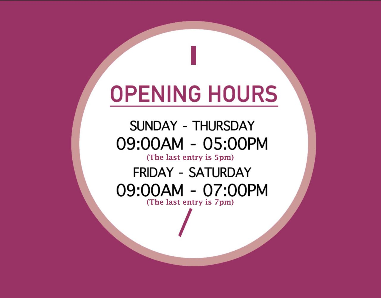 3D Trick Art opening hours